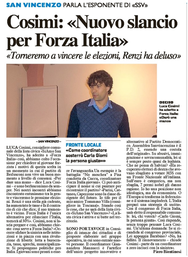 Luca Cosimi Forza Italia