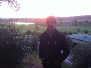Luca Cosimi campo da golf a San Vincenzo dopo visita a Pelagone