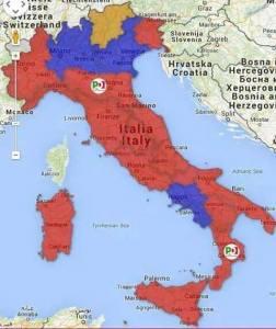 Italia rossa PD