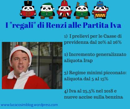Renzi babbo natale legge di stabilità 2015