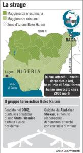 "Massacro Boko Haram in Nigeria, ""si temono 2000 morti"""