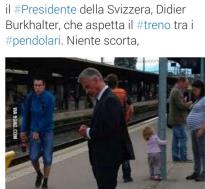 presidente della svizzera protocollo di sicurezza renzi